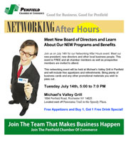 Penfield Chamber email promo created by Wirlo Associates